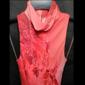 Donna Morgan Dresses - Floral Fade HiLo Dress w/ Sequin by Donna Morgan